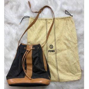 Authentic Vintage Fendi Pequin Stripe Bucket Bag